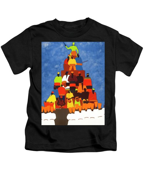 Pyramid Of African Drummers Kids T-Shirt