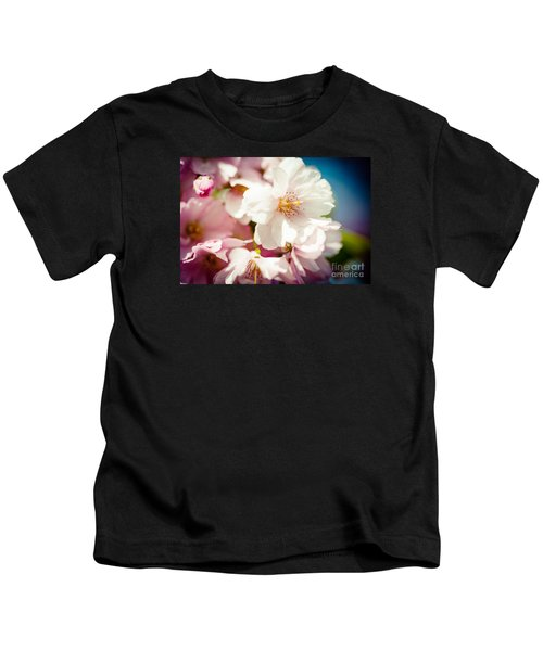 Sakura Blossoms Pink Cherry Artmif.lv Kids T-Shirt