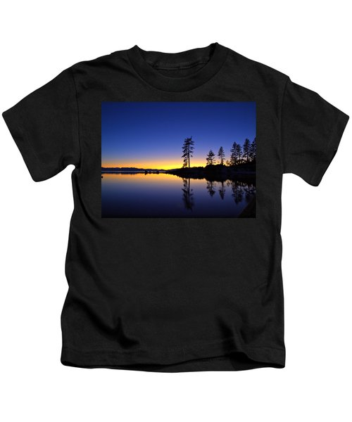 Sand Harbor Sunset Kids T-Shirt