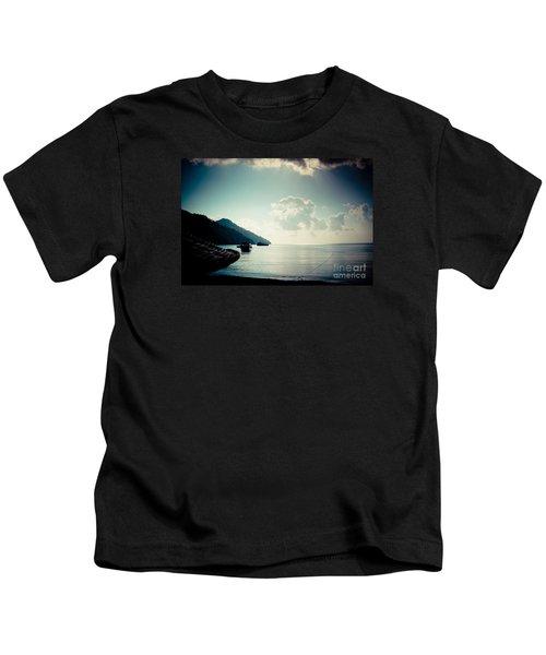 Seascape Sunrise Sea And Clouds  Kids T-Shirt