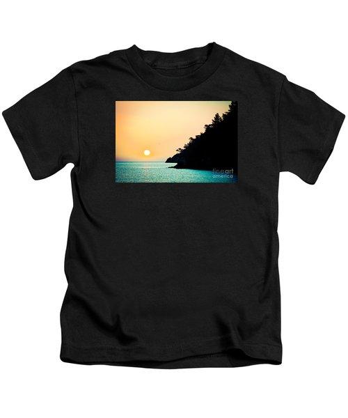 Seascape Sunrise Sea And Sun Kids T-Shirt