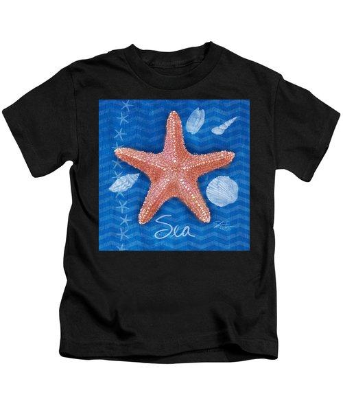 Seashells On Blue-sea Kids T-Shirt