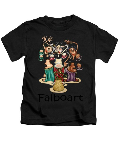 Smoking Belly Dancers Kids T-Shirt