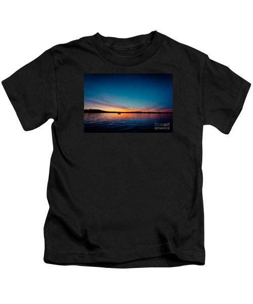 Sunrise Above Lake Water Summer Time Latvia Ezera Skanas Kids T-Shirt