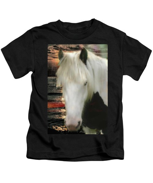 The Beautiful Face Of A Gypsy Vanner Horse Kids T-Shirt