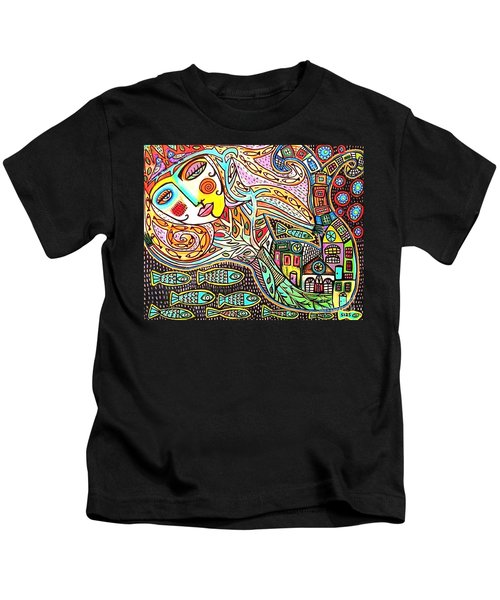 Tree Of Life Village Mermaid Kids T-Shirt