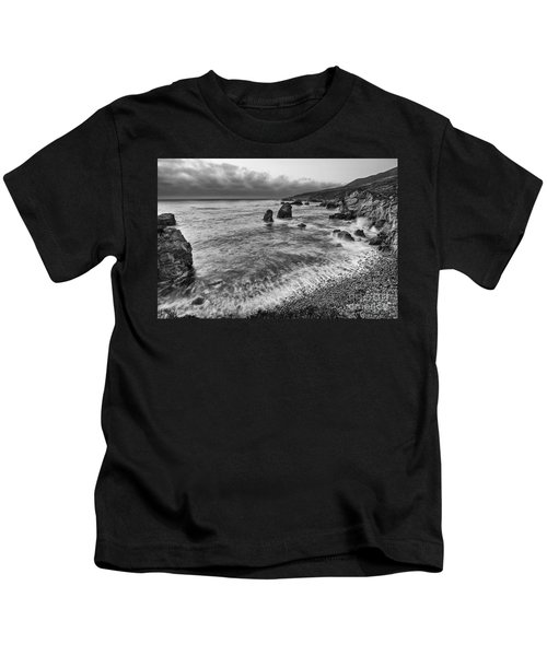 View Of The Rocky Coast From Soberanes Point In Garrapata State  Kids T-Shirt