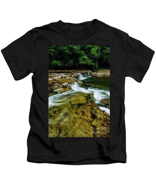 Whitaker Falls In Summer Kids T-Shirt