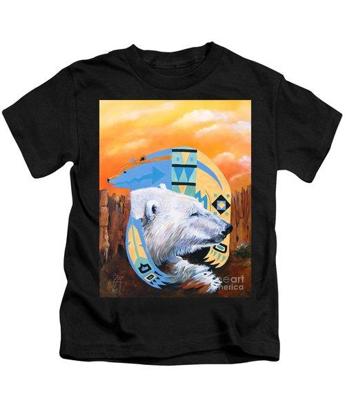 White Bear Goes Southwest Kids T-Shirt