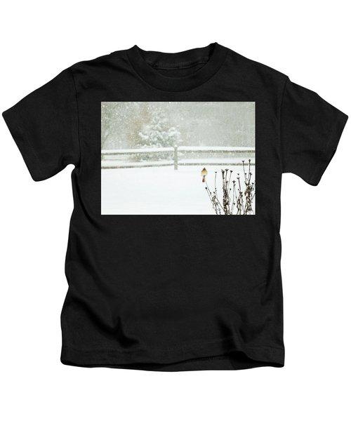 Winter Cardinal Kids T-Shirt