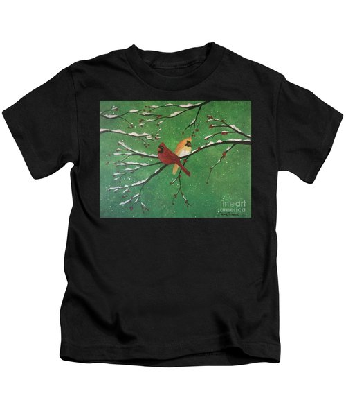 Winter Cardinals Kids T-Shirt
