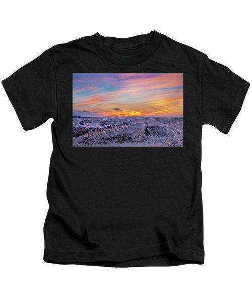 Winter Sunset Kids T-Shirt