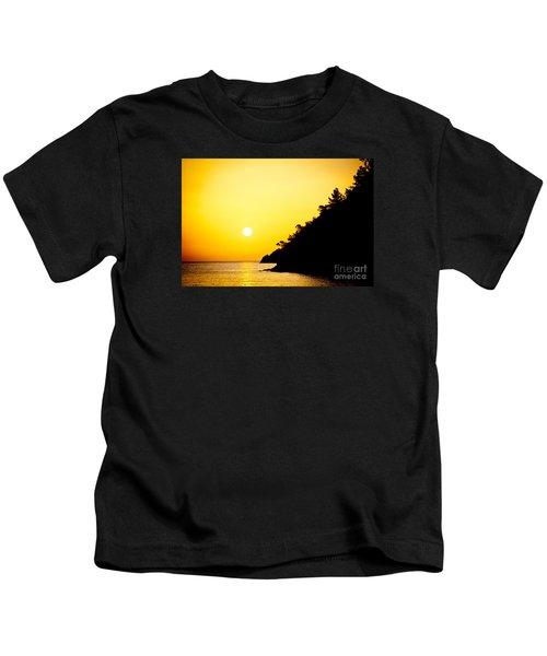 Yellow Sunrise Seascape And Sun Artmif Kids T-Shirt