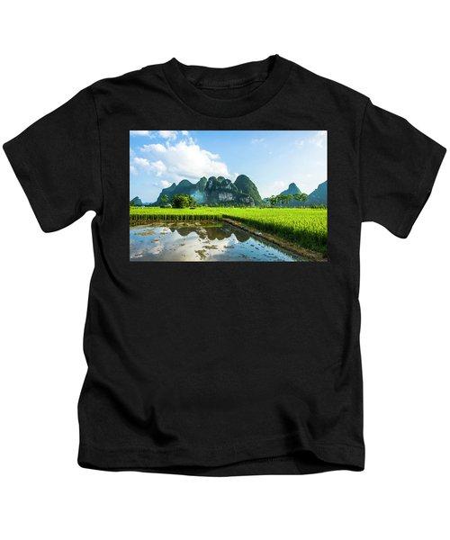The Beautiful Karst Rural Scenery Kids T-Shirt