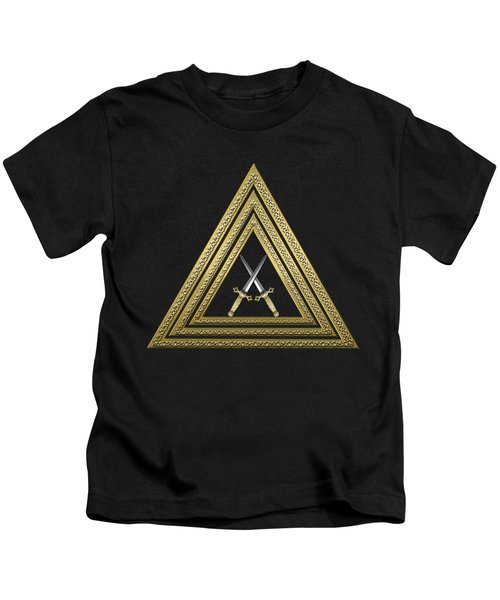 15th Degree Mason - Knight Of The East Masonic Jewel  Kids T-Shirt by Serge Averbukh
