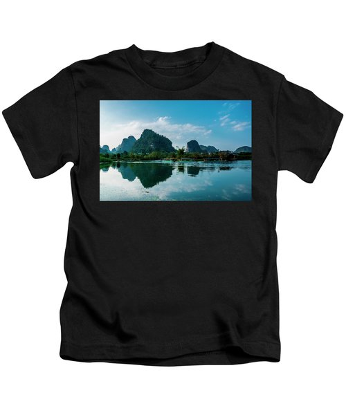 The Karst Mountains And River Scenery Kids T-Shirt