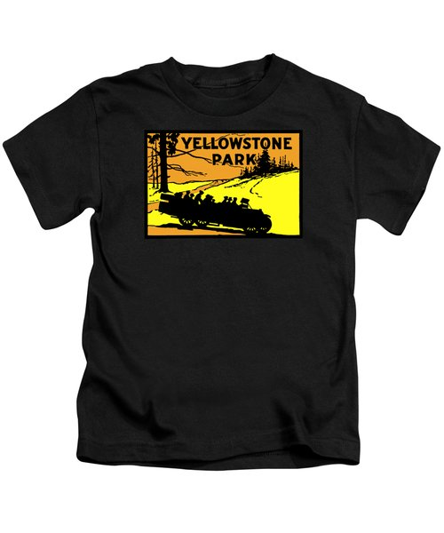 1920 Yellowstone Park Kids T-Shirt by Historic Image