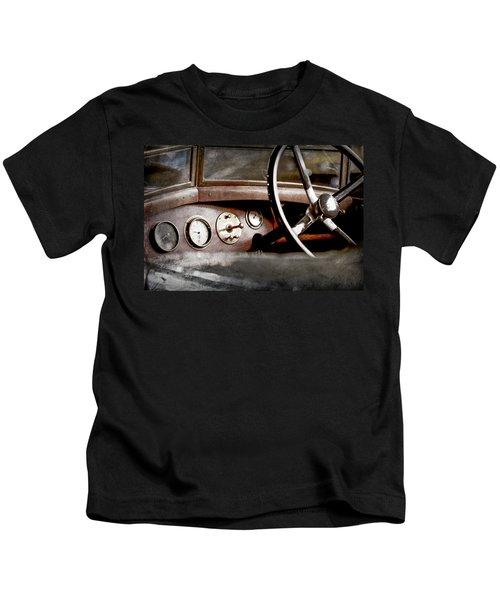1921 Bentley Steering Wheel -0454ac Kids T-Shirt