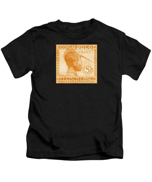 1923 Belgian Congo Ubangi Woman Kids T-Shirt