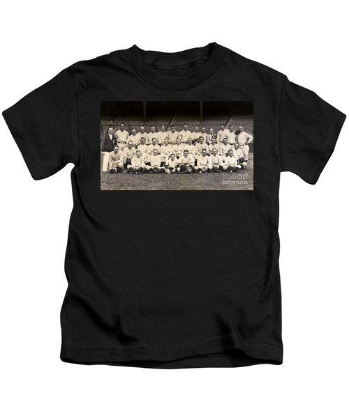 1926 Yankees Team Photo Kids T-Shirt by Jon Neidert