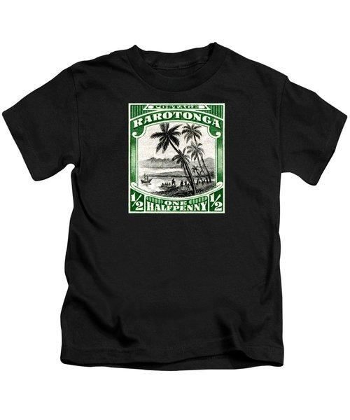 1932 Landing Of Captain Cook Stamp Kids T-Shirt