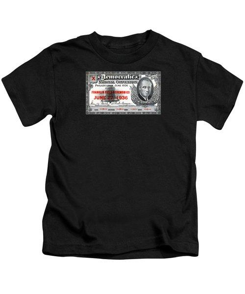 1936 Democrat National Convention Ticket Kids T-Shirt