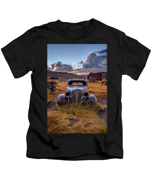 1937 Chevy At Sunset Kids T-Shirt