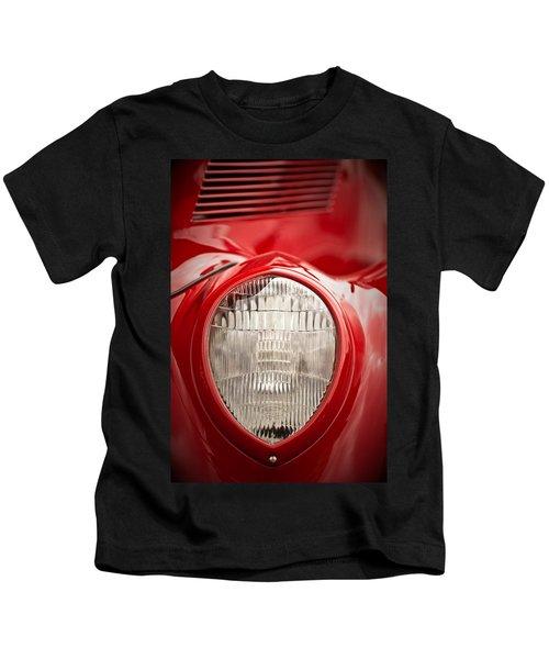 1937 Ford Headlight Detail Kids T-Shirt