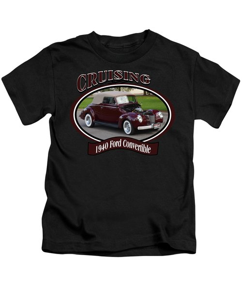 1940 Ford Convertible Morrell Kids T-Shirt