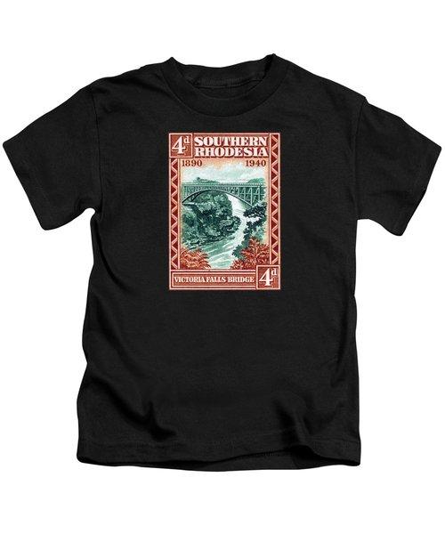1940 Southern Rhodesia Victoria Falls Bridge  Kids T-Shirt