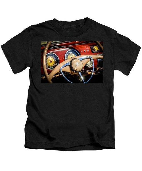 1941 Lincoln Continental Cabriolet V12 Steering Wheel Kids T-Shirt