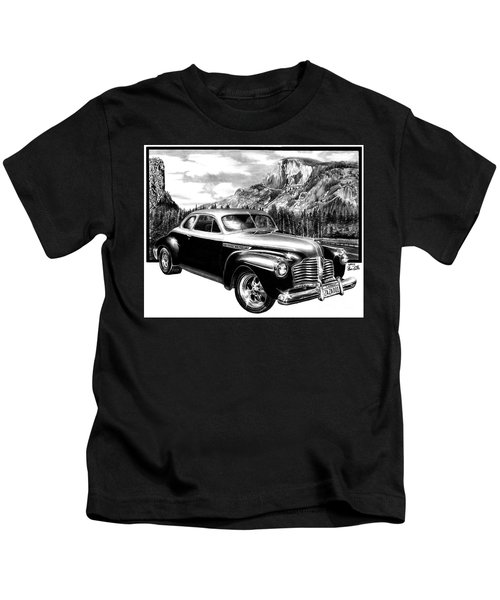 1941 Roadmaster - Half Dome Kids T-Shirt
