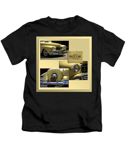 1946 Indy 500 Pace Car Collage Kids T-Shirt