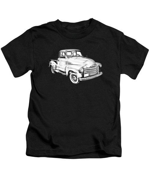 1947 Chevrolet Thriftmaster Pickup Illustration Kids T-Shirt