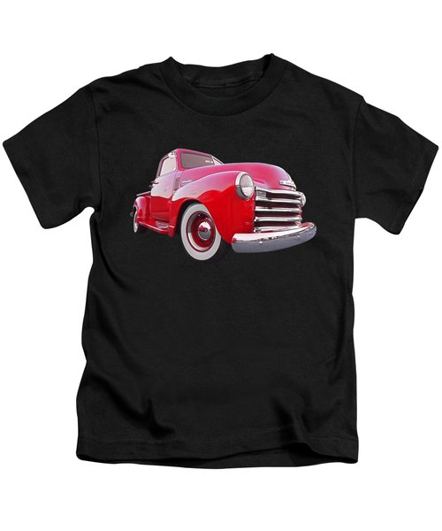 1950 Chevy Pick Up At Sunset Kids T-Shirt