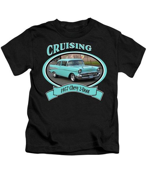 1957 Chevy 2-door Barnham Kids T-Shirt