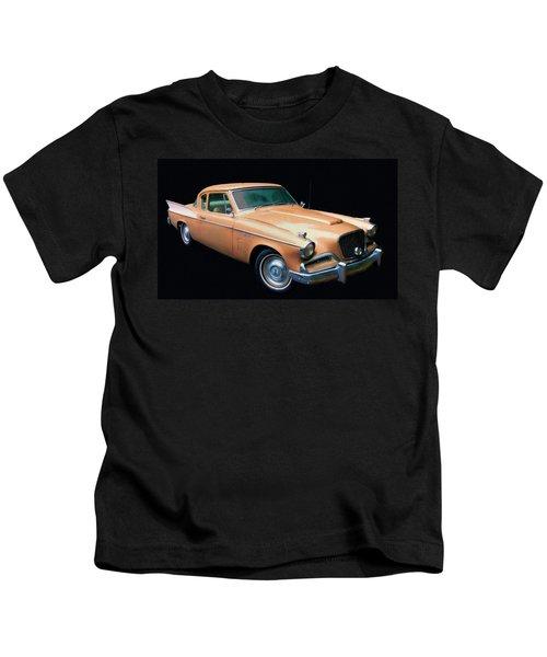 1957 Studebaker Golden Hawk Digital Oil Kids T-Shirt