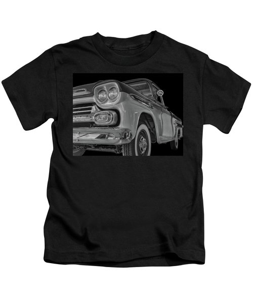 1959 Chevrolet Apache - Bw Kids T-Shirt