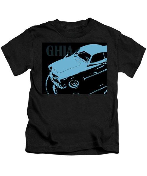 1962 Karmann Ghia Pop Art Blue Kids T-Shirt