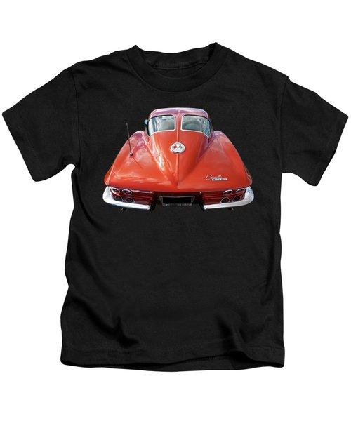 1963 Corvette Stingray Split Window Rear Kids T-Shirt