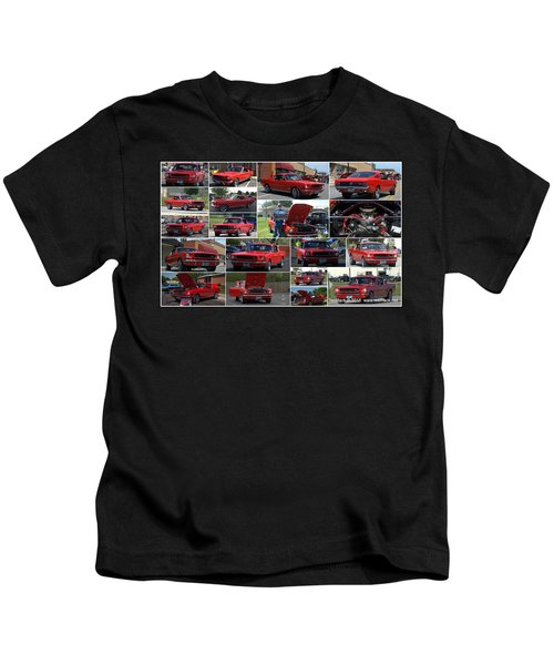 1965 Mustang Fastback Collage Kids T-Shirt