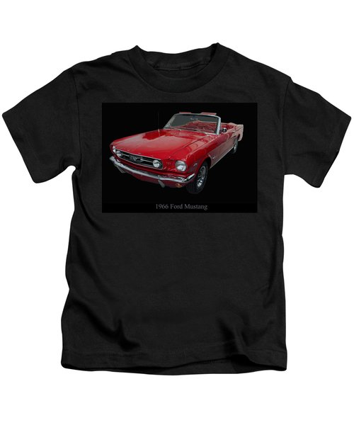 1966 Ford Mustang Convertible Kids T-Shirt