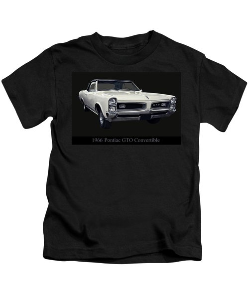 1966 Pontiac Gto Convertible Kids T-Shirt
