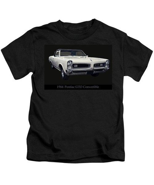 1966 Pontiac Gto Convertible Kids T-Shirt