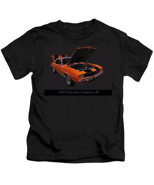 1969 Chevy Camaro Z28 Kids T-Shirt