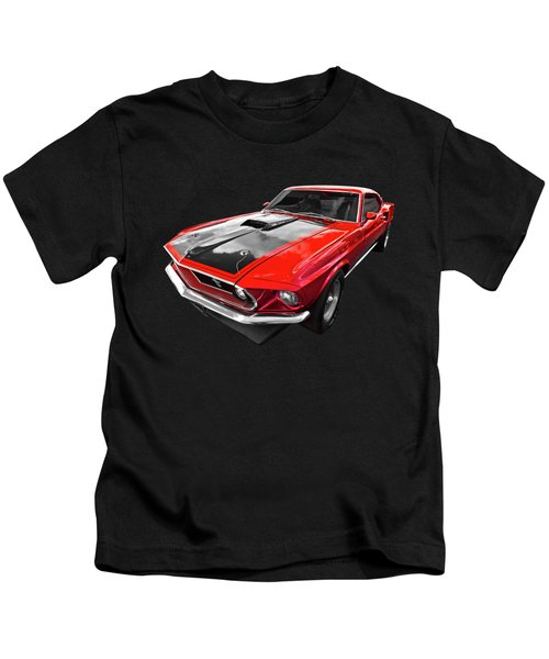 1969 Red 428 Mach 1 Cobra Jet Mustang Kids T-Shirt