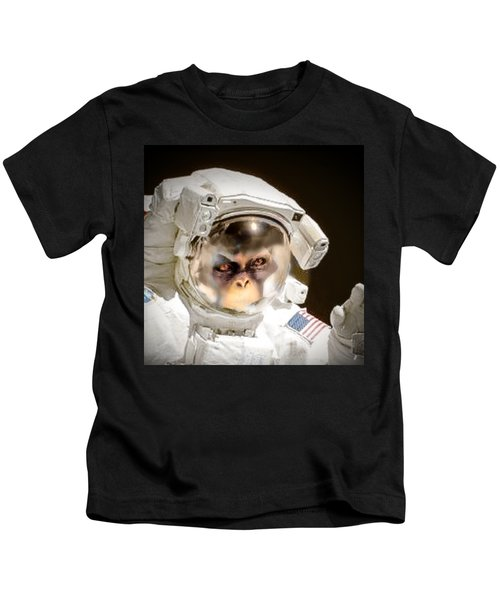 1st Into Space  Kids T-Shirt by Scott French