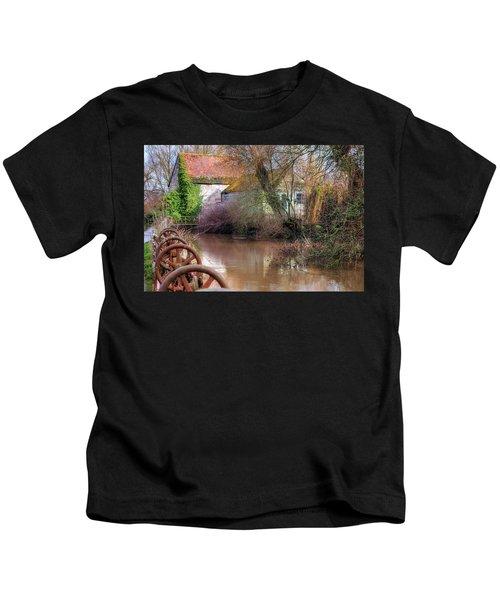 Fiddleford Mill - England Kids T-Shirt