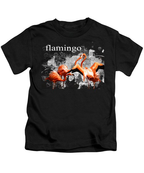 Flamingo Kids T-Shirt by Methune Hively