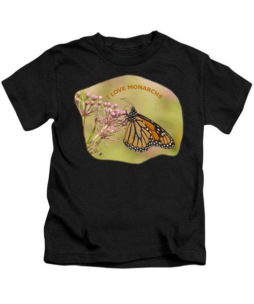 I Love Monarchs Kids T-Shirt